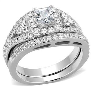 Ring CZ Diamonds 316 Stainless Steel  High Polish